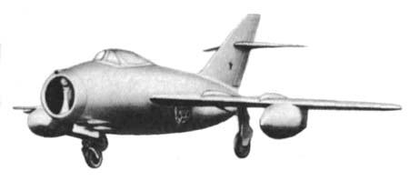 Рис 199 самолет миг 15бис с подвесными